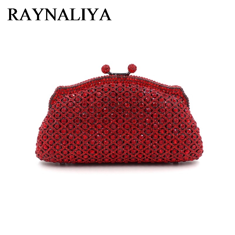Crystal Minaudiere Clutch Handbag Women Evening Bags Ladies Metal Hardcase Wedding Party Bag Diamond Clutches Purse ZH-A0044 aequeen evening clutch bags women wedding party bags retro shoulder bags ladies day clutches diamond chains handbag