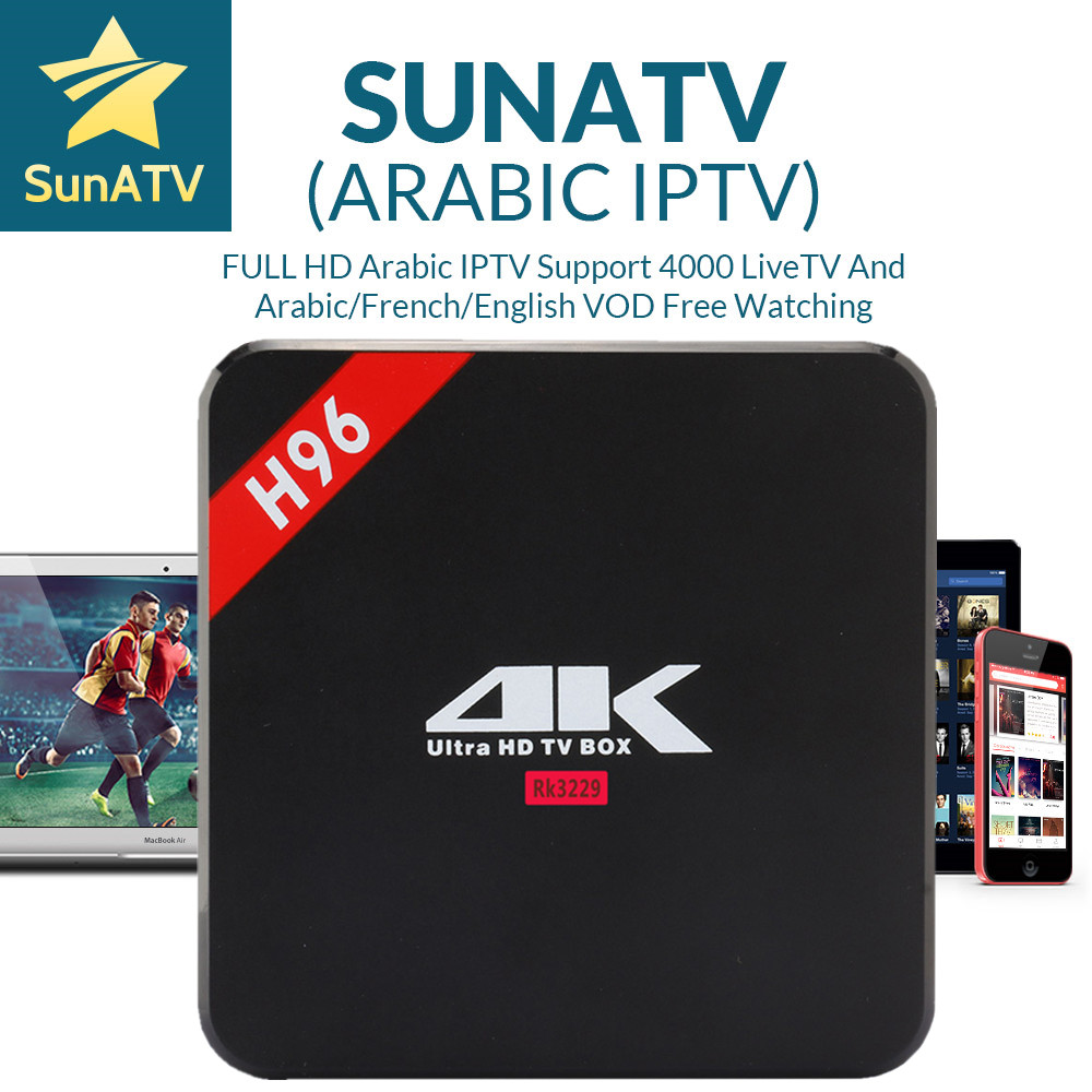 H96 Android TV Box with 1 year French iptv Arabic UK Belgium Netherland Turkey Portugal IPTV