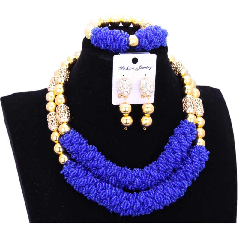Dudo Jewelry Bridal Dubai Gold Jewelry Sets for Women African Nigerian Jewellery Set Royal Blue Necklace Bracelete Earrings SetDudo Jewelry Bridal Dubai Gold Jewelry Sets for Women African Nigerian Jewellery Set Royal Blue Necklace Bracelete Earrings Set