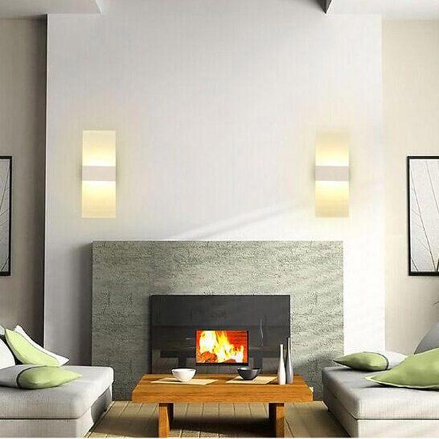 5W Led Lamp Modern Acrylic Wall Lights For Child Bedroom Stair Living Room Sconce Decor Home Lighting White Iron AC 110-220V