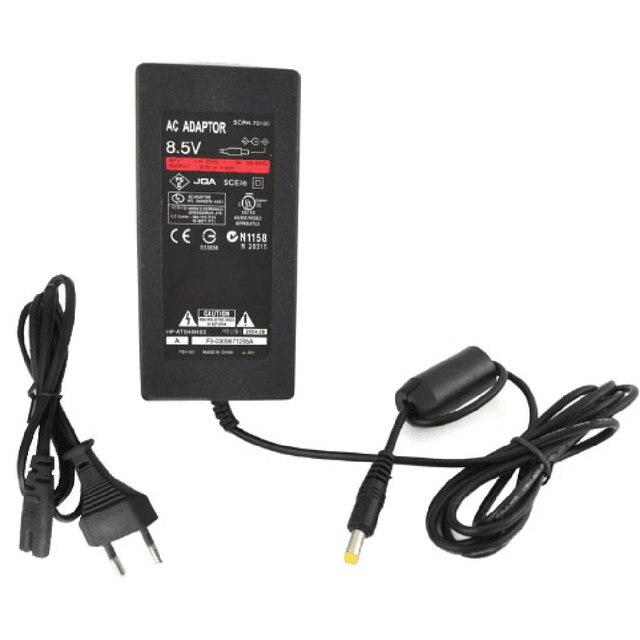 EU 플러그 AC 어댑터 충전기 코드 케이블 전원 PS2 콘솔 슬림 블랙