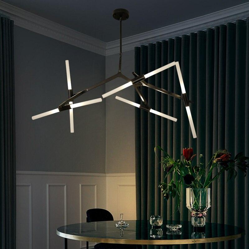 Lustre nordique déformation gradation personnalité créative moderne simple magasin de vêtements salle à manger lustre lampes et lanter