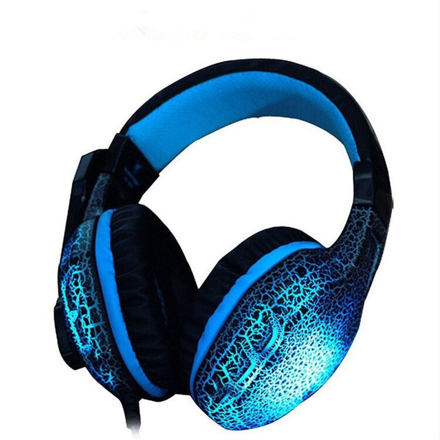 Cool Flash Stereo LED Glow Gaming Headset Headphone PC ...