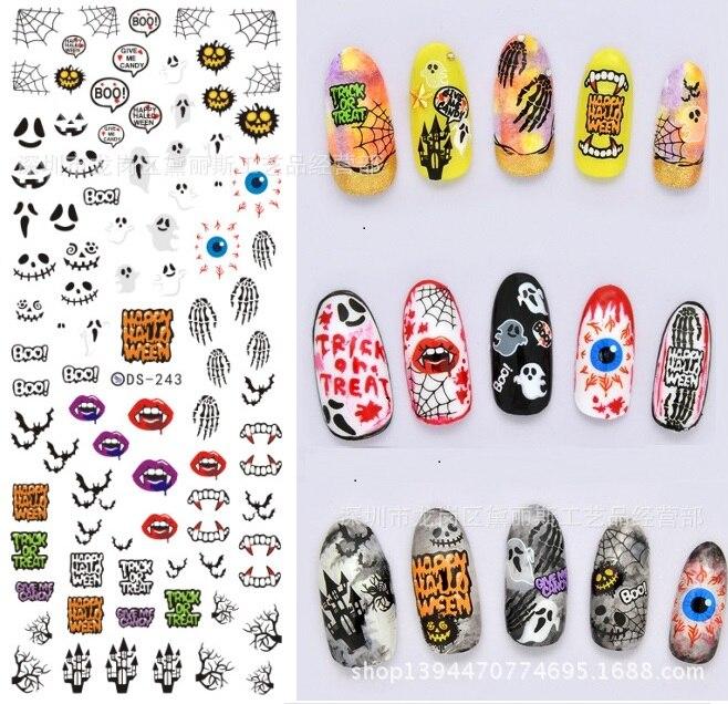 Japan Nail Art Christmas Halloween Designs Nail Patch Art Stickers