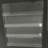 Countertop Wall Mount Acrylic Display Rack For Nail Polish 4 Open Shelves Small Bottle Collection Organizers