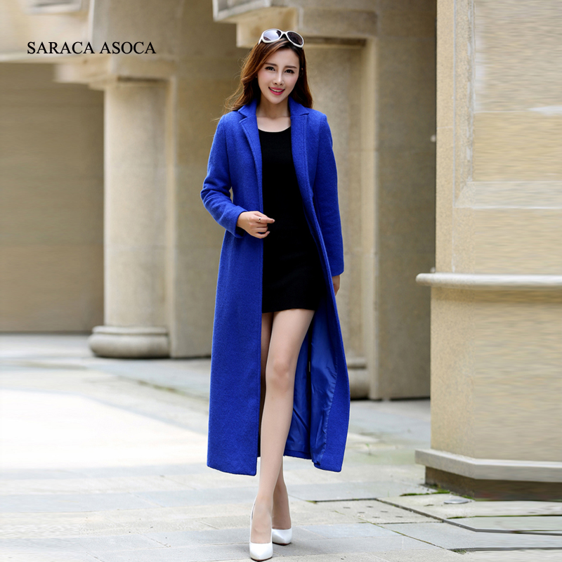 가을/겨울 패션 슬림 여성용 화이트 코트 겨울 롱 코트 새로운 디자인 웜 x 롱 오버 사이즈 모조 캐시미어-에서울 & 블렌드부터 여성 의류 의  그룹 2