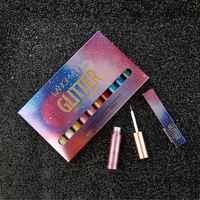 Liquido Glitter Brillante Shimmer Eyeliner Pencil 10 pz/set Variopinta Impermeabile Lunga Durata Trucco Eye Liner