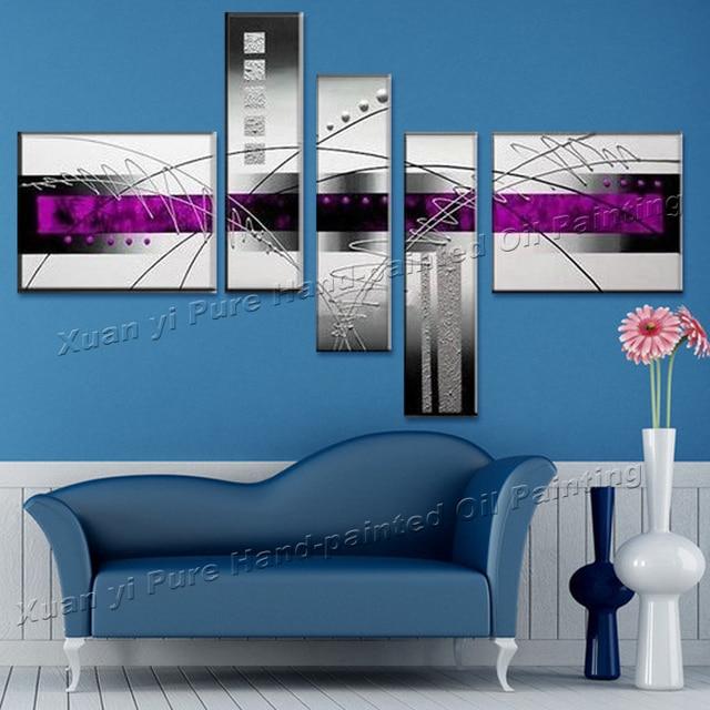 100% handgemachte Abstrakte Moderne Wand Wohnzimmer Dekoration Linie ...