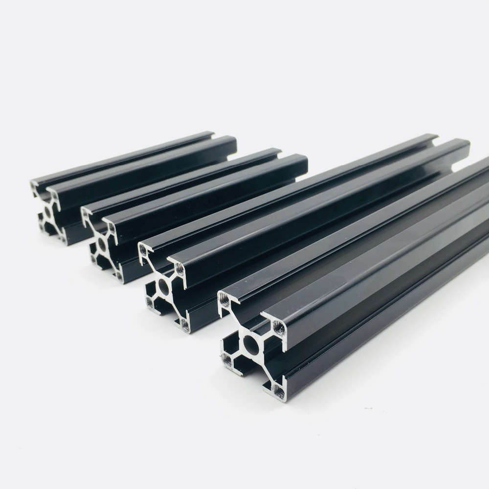 Prusa I3 MK3 Black Anodized Aluminum Extrusions Kit 3030 Profiles