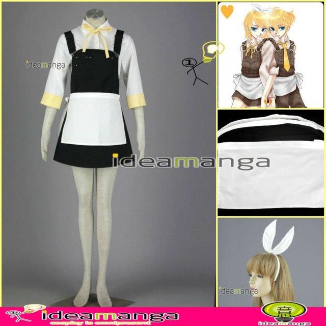 [ideamanga]Manga Amime V+ VOCALOID Alice  Rin Kagamine Rin woman girl's Cosplay Costume Female halloween party dress Any Size