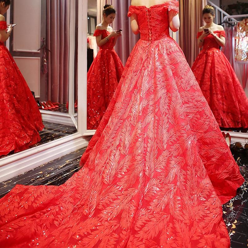 Lace Train Princess 2018 rochie de mireasa rochie de mireasa plus - Rochii de mireasa - Fotografie 5
