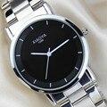 Relógios de pulso Marca de Relógio de Quartzo de Aço Inoxidável À Prova D' Água Tira um Par Pulseira de Relógio Feminino Relógio Masculino reloj mujer