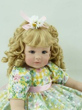 22 inch 55cm Silicone baby reborn dolls, lifelike doll reborn babies  for Children's toys blonde hair girl
