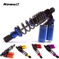 KOWELL Two Bottle Hydraulic Adjustable Universal Back Rear Motorcycle Shock Absorber Spring Buffer Damping Bumper Power