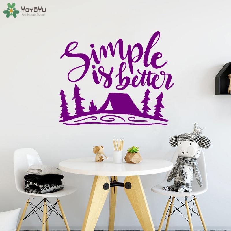 best discount afd yoyoyu wall decal camping wall sticker