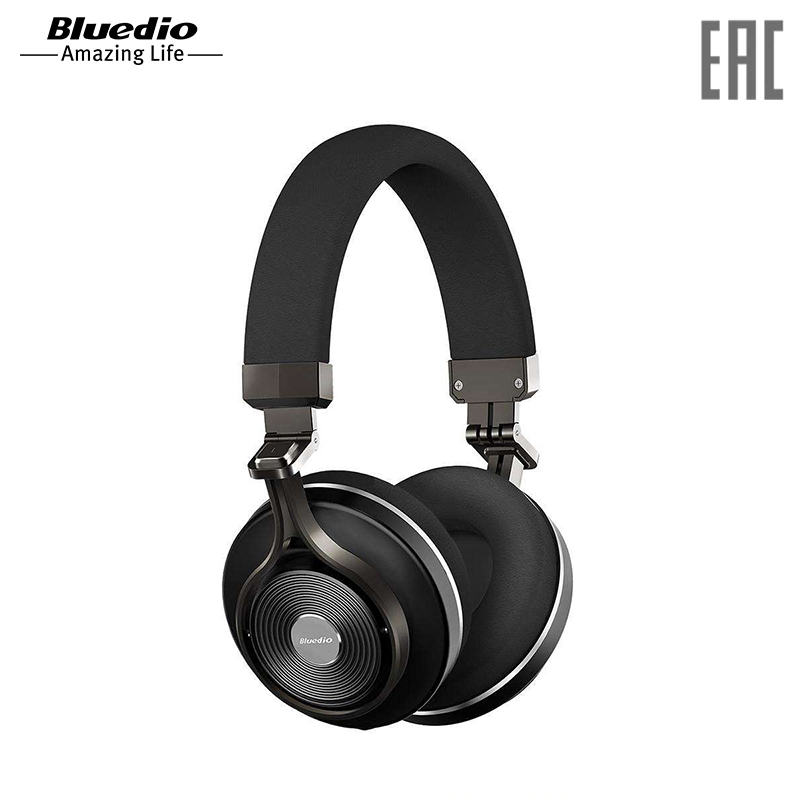 Headphones Bluedio T3-Wh Black wireless bluedio t3 plus bluetooth headphones