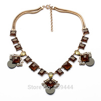 Wholesale Vintage Jewelry Elegant Resin Alloy Necklace Gem Inlay Snake Gold Color Chain Fashion Necklaces For Women 2014