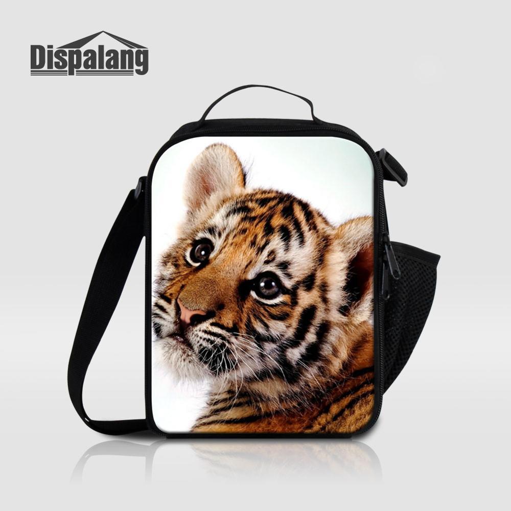 Мужские Термо-холщовые сумки для ланча, лисы, волка, динозавра, змеи, для мальчиков, сумка-холодильник для еды, пикника, Детская маленькая сумка-Ланч-бокс на молнии для школы - Цвет: Lunch Bag08