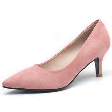 2017 New Fashion Summer Pointed High Heels Shoes To assist Low Fine With Shallow Mouth Single Thin Heel Shoes Women's Shoes
