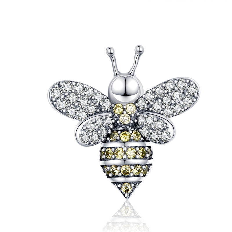 Dangle Butterfly Charm Bead Sterling Silver Pendant Insect