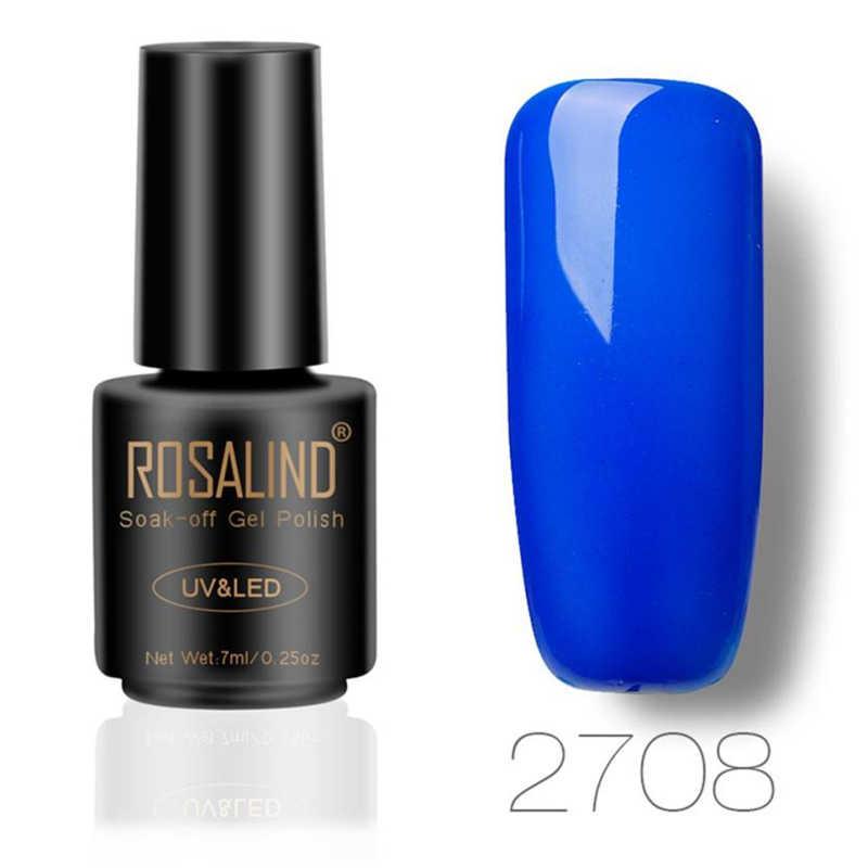 רוזלינד 7ML ציפורניים ג 'ל פולני Chameleo UV LED ג' ל פולני esmaltes permanentes דה uv y led ג 'ל לק