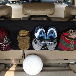 Image 2 - Araba gövde saklama çantası/koltuk asılı çanta, depolama net yüksek kapasiteli/ayakkabı, basketbol ekipmanları çanta net gövde