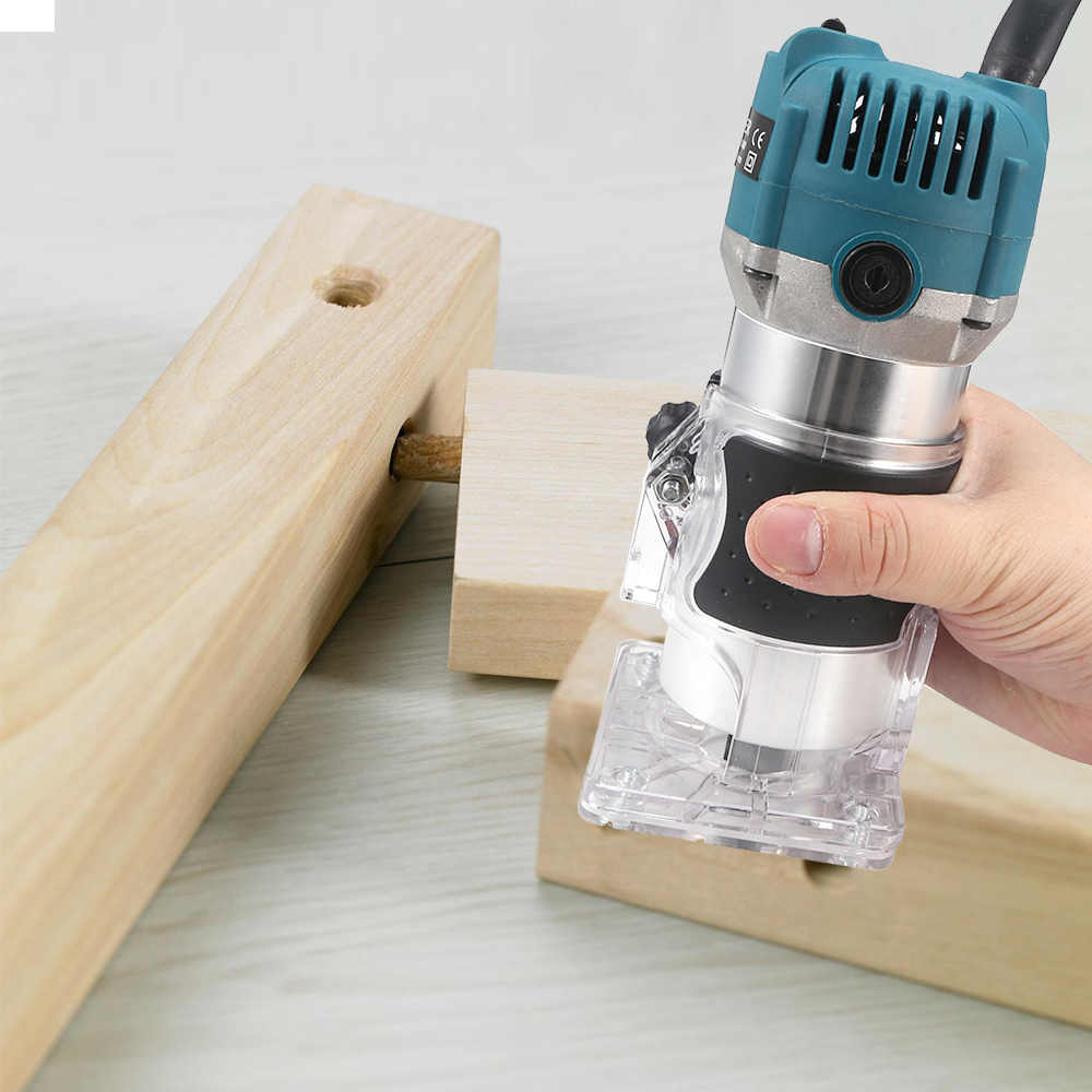 "800W Listrik Pemangkas Handheld Laminasi Edge Trimmer 1/4 ""Collet Kayu Router Woodworking Milling Ukiran Mesin Sekrap Shapping Machine"