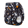 1pcs Halloween Prints Baby Diaper Reusable Cloth Nappies Waterproof  PUL Winter  Newborn Cover Double Row Snaps  aio Diapers