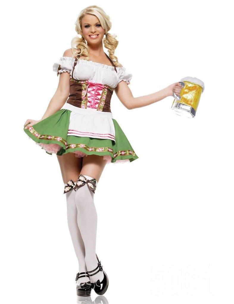 Women Oktoberfes Costumes Women Beer Festival Dresses Deguisement Adults Housemaid Dress Sexy Halloween Costumes