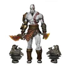 18 cm NECA Permainan God of War 3 Ghost of Sparta Kratos Angka Tindakan Mainan Borong Koleksi PVC Model Toy Hadiah Untuk Kanak-kanak N288