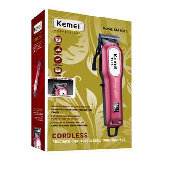 Kemei Professional Cordless Hair Clipper Electric Hair Beard Trimmer Powerful Hair Shaving Machine Hair Cutting Razor Barber
