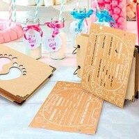OurWarm Baby Douche Advies Kaarten Olifant Baby Shower Gast Boek Teken in Boek Verjaardag Gastenboek Foto Ablums 19 cm * 14 cm * 2.1 cm 5