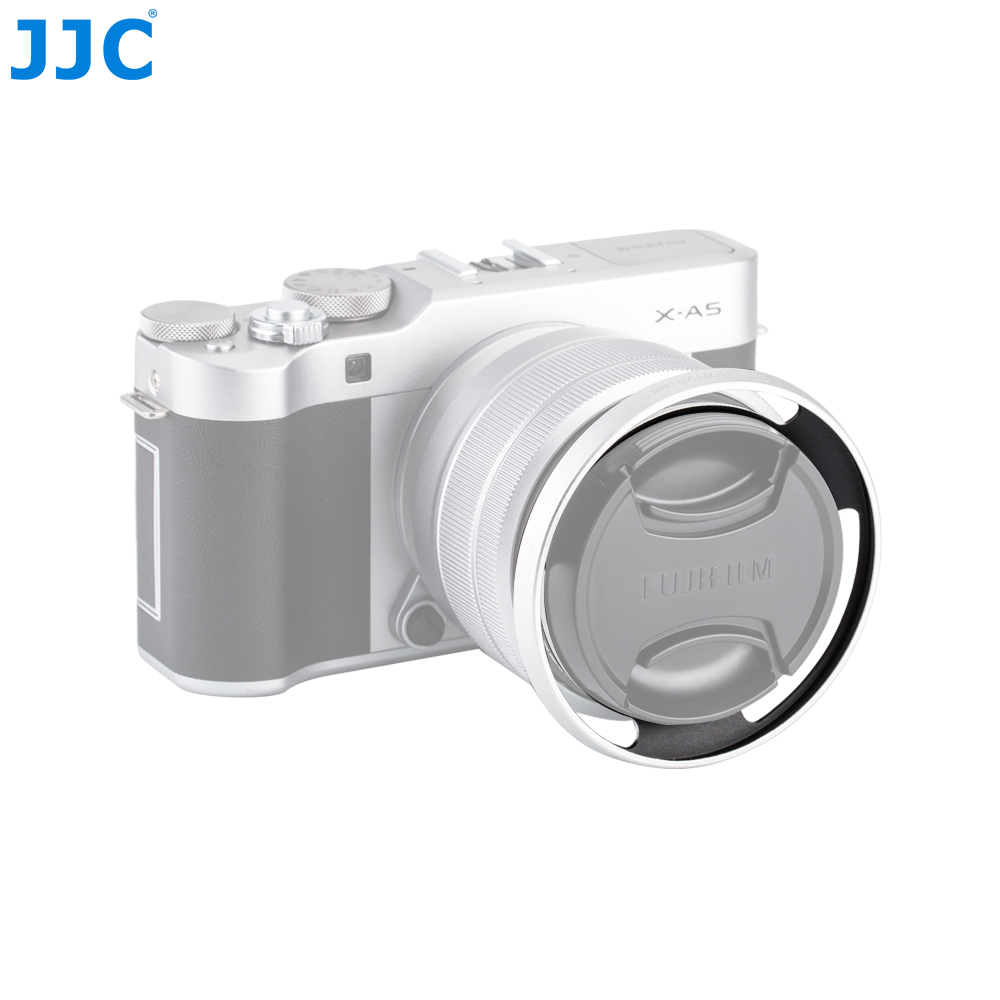 JJC Camera Screw Adapter Ring <font><b>52mm</b></font> Metal Lens <font><b>Hood</b></font> For Fujifilm X-T100 XC15-45mm F3.5-5.6 OIS PZ Lens image