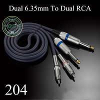 GUSUO Qualità Dual RCA a 2x6.35mm 1/4 ''Mono TS Plug Audiophile Cavo Audio per Amplificatore Mixer 0.5 M-30 M