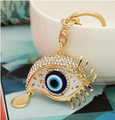 Rhinestone eye keychain/korean luxury jewelry bag charms/chaveiro carro/llaveros women/porte clef strass/trinket for car/gift