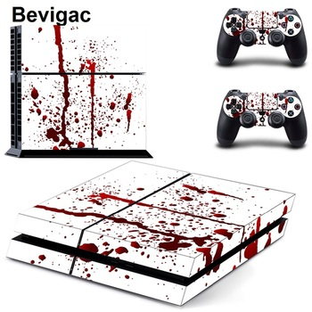 Bevigac Full Sticker Skin Cover Decal Case Set for Sony PlayStation 4 Play Station PS 4 PS4 Console Dualshock Accessories Gadget protective vinyl skin decal cover for ps vita psvita playstation vita portable sticker skins diamond plate