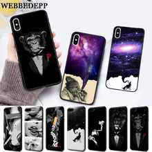 WEBBEDEPP Cigarette Smoking  Protector Silicone soft Case for iPhone 5 SE 5S 6 6S Plus 7 8 11 Pro X XS Max XR