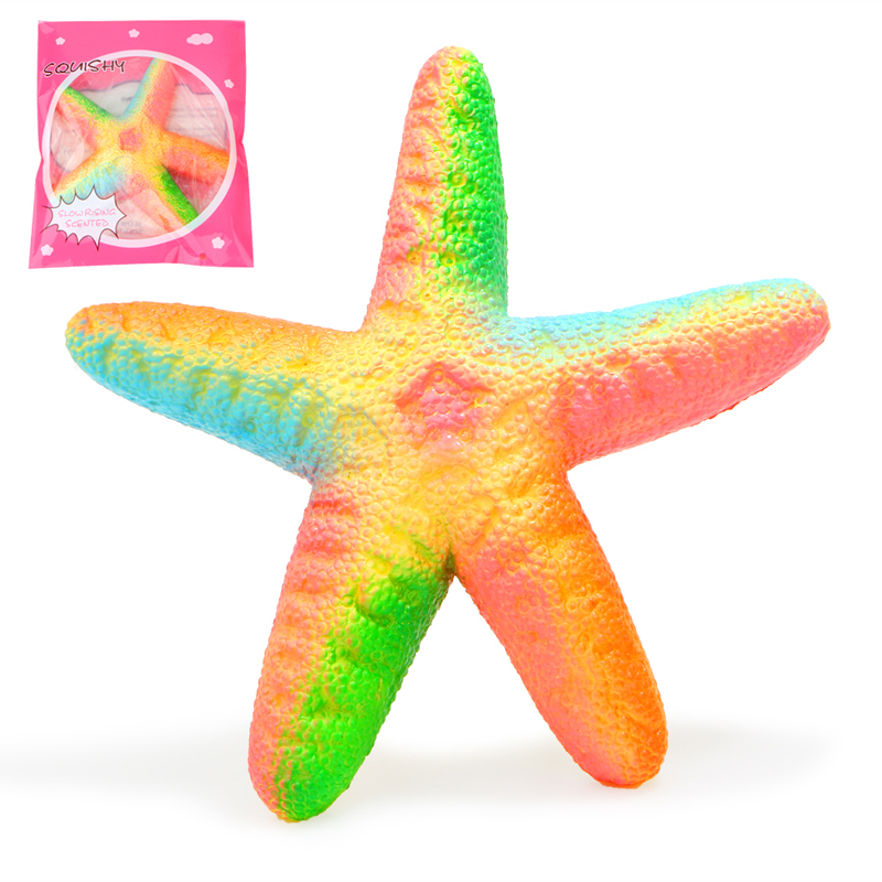 Wholesale 10 pcs/lot Colorful Squishy Starfish Bread Charm