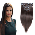 8a clipe em extensões de cabelo humano peruano reta Clip de cabelo extensões de cabelo Natural 8 pcs 18 clips 200 G 4 marrom