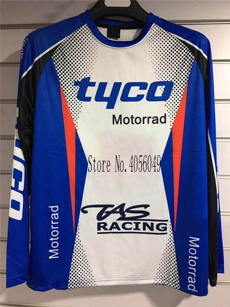 Moto GP TAS Men's Long Sleeve Motorcycle <font><b>T</b></font>-<font><b>shirts</b></font> Tyco <font><b>Motorrad</b></font> Motocross Jersey Polyester Motorsport Cycling <font><b>shirt</b></font> for <font><b>BMW</b></font> tee image