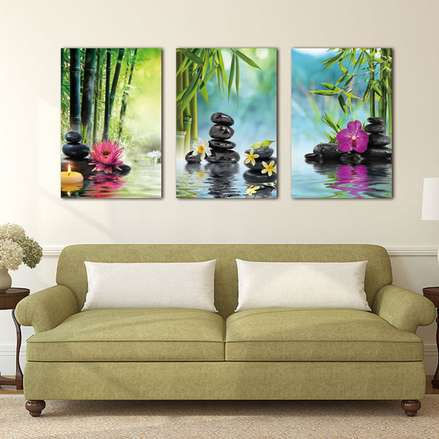 Online Shop Canvas Painting Wall Art picture Decor SPA Stone Green ...