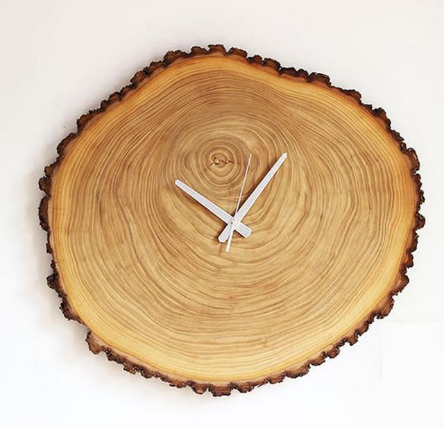 PINJEAS clock 11inch 13 inches Wall clock, natural wood wall clock, Decor and Housewares, Christmas gift