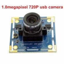 Electronic rolling shutter 8mm lens 1MP Ominivision OV9712 CCTV UVC Black and white monochrome 720p hd usb video camera board