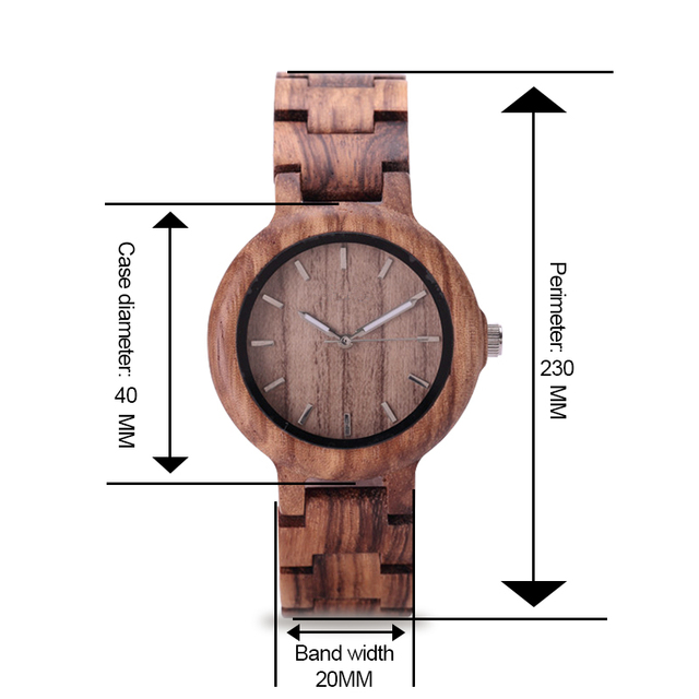 GNART Wooden Watches relojes para mujer Women 2018 Wood Watch Fitness Watch for Ladies Brown Relogio Feminino                    5