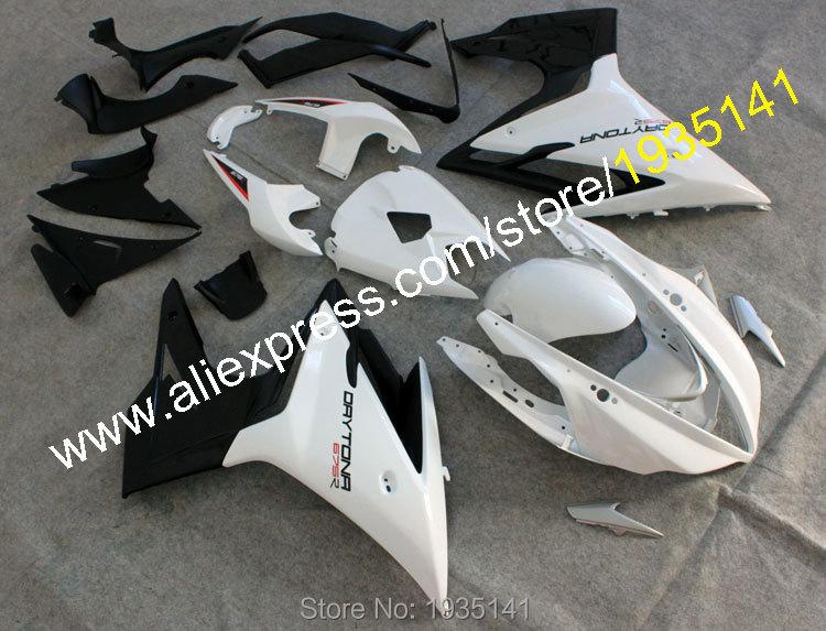 Hot Sales,For Triumph white black Fairing bodywor Daytona 675 2013-2015 ASB plastic parts 675 Daytona 13 14 15 Motorbike Cowling