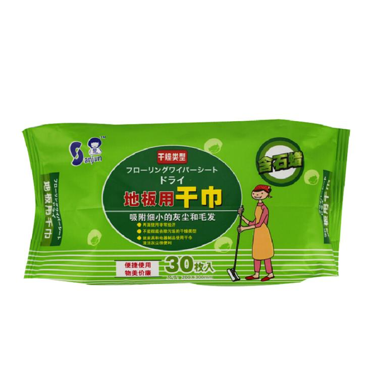 Kitchen Cleaning Wipes: Sanjun Disposable Antiseptic Dry Floor Wipes Cleaning