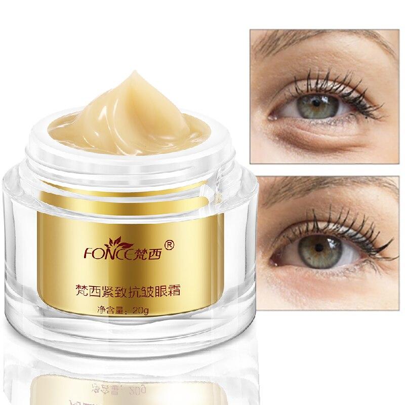 Fonce Auge Creme Anti falten Creme Straffende Augen Maske Entfernen Augenringe behandlung Anti Schwellungen Feuchtigkeitsspendende Tag Nacht Cream20g