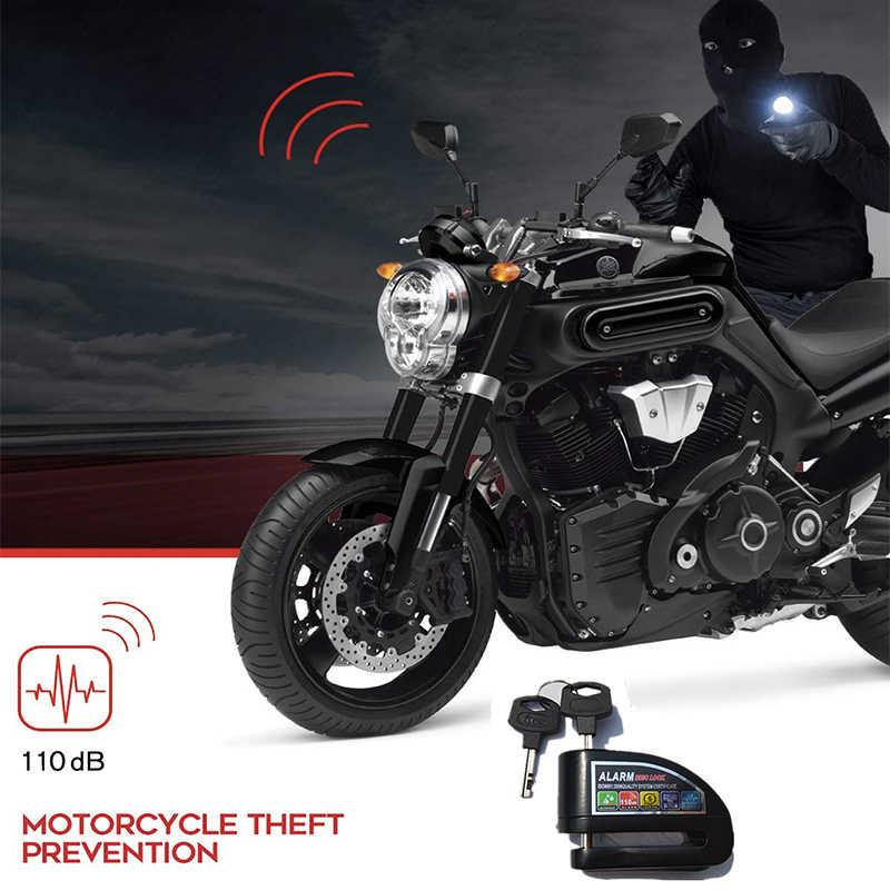 Motor Scooter Sepeda Anti-Theft Roda Cakram Alarm Rem Pengaman Tahan Air 110db Suara Alarm 6 Mm Pin rem