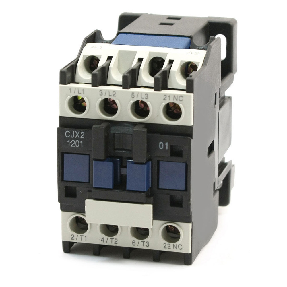 цена на 3 Phase Motor Magnetic Contactor Relay 12A 3P 3 Pole 1NC AC 24V 110V 220 Volts 400V Coil CJX2-1201 35mm Din Rail Mounting