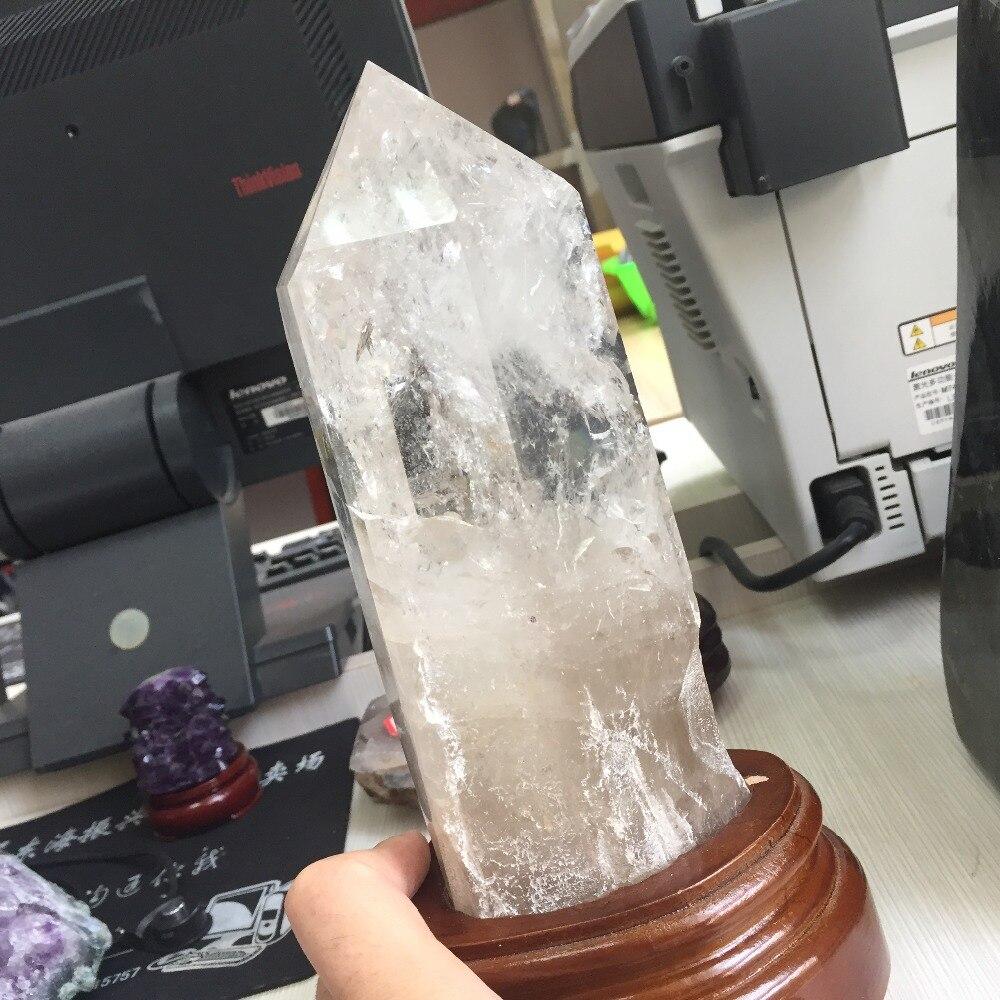 1.7 kg cristal de roche naturel cristal poli guérison unique Point baguette Reiki artisanat décoration accessoires